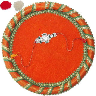 Designer Rakhi and Thali Set TH20-AR27
