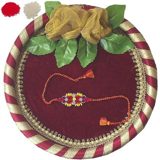 Designer Rakhi and Thali Set TH21-AR17
