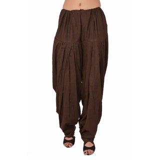Sheryl Trendz Brown Color Cotton Salwar Semi Patiyala