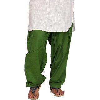 Sheryl Trendz Mehandi Color Cotton Salwar Semi Patiyala