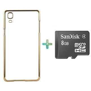Meephone Back Cover  For LENOVO Z1 (Transparent  GOLDEN) With 8GB MEMORY CARD