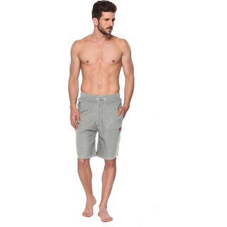ONN Solid Light Green Colored Shorts For Men