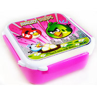 Angry Birds Kids School Pink Lunch Box Super Lock And Seal Box
