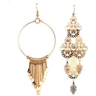 Jazz Jewellery Huggies Gold Plated Combo Earrings Set