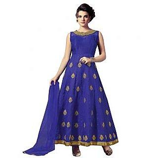 Khushi Trendz Banarasi Silk Blue Se Stitched Salwar Suit
