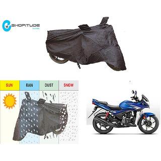 ESHOPITUDE-Black Bike Body Cover with Mirror Pockets  -Hero IGNITOR