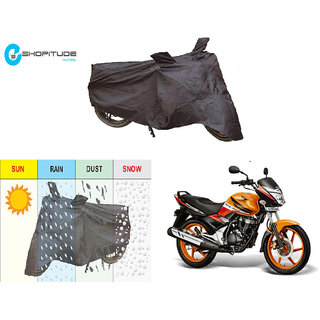 ESHOPITUDE-Black Bike Body Cover with Mirror Pockets  -Honda UNICORN