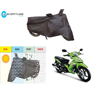 ESHOPITUDE-Black Bike Body Cover with Mirror Pockets  -TVS ROCKZ
