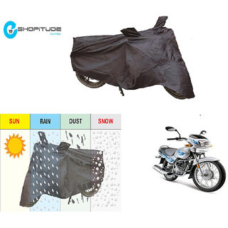 ESHOPITUDE-Black Bike Body Cover with Mirror Pockets  -TVS VICTOR