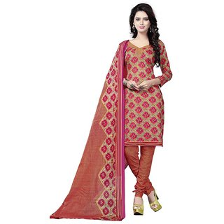 Minu Suits Cotton Unstiched Dress Material New Multi