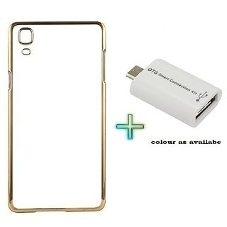 Meephone Back Cover  For COOLPAD NOTE 3 LTE(Transparent  GOLDEN) With OTG SMART