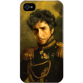 Dreambolic Bob-Dylan-Replaceface Printed Back Cover For Iphone 4