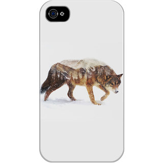 Dreambolic Arctic-Wolf Printed Back Cover For Iphone 4