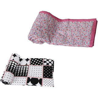 IndiWeaves Combo offer of Micro Fiber Double Bed Dohar with Cotton Double Bed Dohar  (Pack of 2 Dohars)