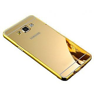 Mirror Back Cover Case Metal Frame Samsung J5 Gold