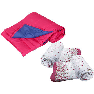 IndiWeaves Combo Offer of Micro Fiber Comforter Set for Single Bed with Cotton Dohar for Single Bed (2 Pieces)- (Pack Of 3)