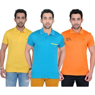 Fabnavitas Mens  Polo Casual T-shirt Pack of 3