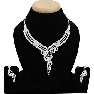 ZeyZes American Diamond beautiful and trendy necklace set