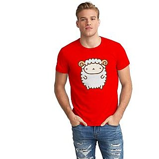 Dreambolic  Cute Sheep Half Sleeve T-Shirt