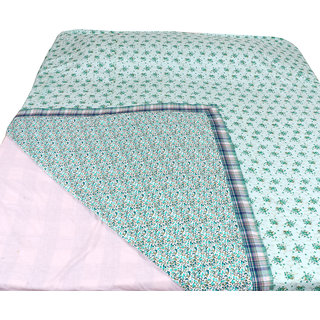 IndiWeaves Combo offer of Micro Fiber Double Bed Dohar with Cotton Single Bed Dohar (2 pieces) (Pack of 2 Dohars)