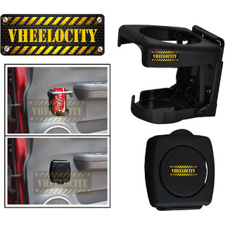 Vheelocity Foldable Car Drink / Can / Glass / Bottle Holder - Black