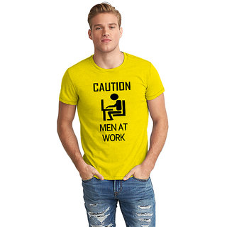 Dreambolic Caution Men At Work Half Sleeve T-Shirt