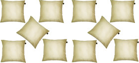 Lushomes Cream Dupion Silk Cushion Covers (Pack of 10)