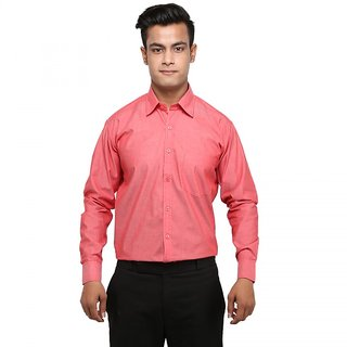 MANI Mens Solid Formal Dark Peach Shirt: Buy MANI Mens Solid ...