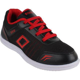 Super Black-317 PVC Men/Boys Sports  Running Shoe
