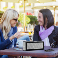 ABANTA BT 818 - Portable Bluetooth Mobile  Tablet Speaker With Stereo Sound In White Colour