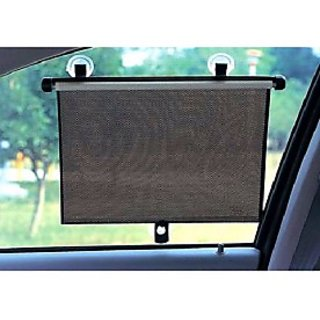 Sunup Car Automatic Stop Sunshade Screen Roller Grey Side Shade-2 PCS