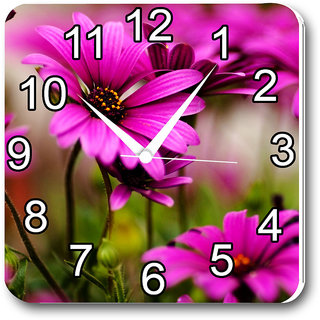 Czds India Flowers Wall Clocks with Battery