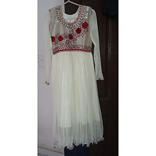 803791f39569 Buy A beautiful off white long gaun frock Online   ₹1600 from ShopClues