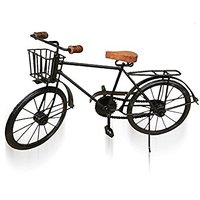 Desi Karigar Black Mango Wood And Wrought Iron Model Cycle