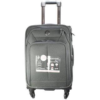 American House 28 Inch 4 Wheel Trolley Bag, Grey