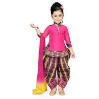 Aarika Pink Cotton Patiala Suit