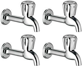 Snowbell Long Body Continental Brass Chrome Plated - Set of 4