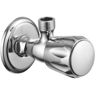 Snowbell Angle Cock Continental Brass Chrome Plated