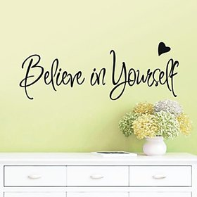 Believe In Yourself Inspirational Vinyl Wall Quotes Lettering Sticker Sticker 06