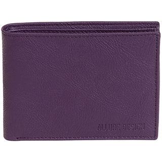 Allure Design Mens Formal Non Leather Purple Colour Wallet