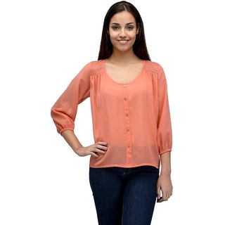 07390aa0d682d Buy Tunic Nation Women Orange Solid Top Online - Get 59% Off