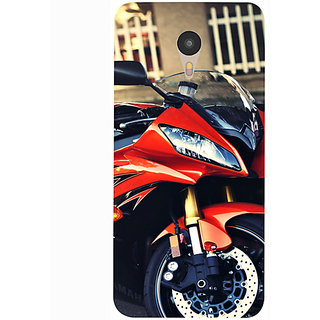 Casotec Red Motorcycle Design 3D Printed Hard Back Case Cover for Yu Yunicorn