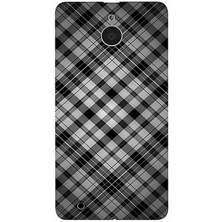 Casotec Black Stripes Pattern Design 3D Printed Hard Back Case Cover for Microsoft Lumia 850