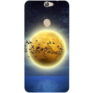 Casotec Moon View Design 3D Printed Hard Back Case Cover for Coolpad Max