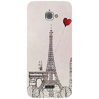 Casotec Paris Red Heart Design 3D Printed Hard Back Case Cover for InFocus M350