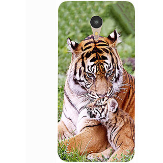 Casotec Tiger Design 3D Printed Hard Back Case Cover for Yu Yunicorn