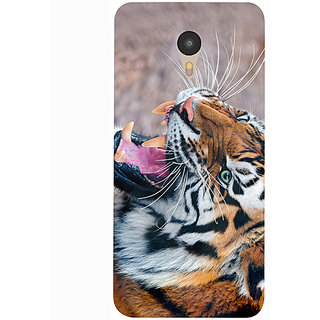 Casotec Tiger Aggression Design 3D Printed Hard Back Case Cover for Yu Yunicorn