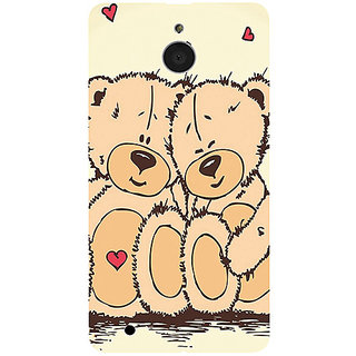 Casotec Teddy Bear Love Design 3D Printed Hard Back Case Cover for Microsoft Lumia 850