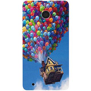 Casotec Ballon House Design 3D Printed Hard Back Case Cover for Microsoft Lumia 850