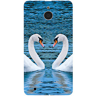 Casotec Pure Swan Design 3D Printed Hard Back Case Cover for Microsoft Lumia 850